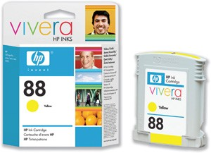 HP 88 Large Yellow Ink Cartridge Съвместимост : HP Officejet Pro K550 Colour PrinterЦвят : Yellow C9393AE