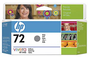 HP 72 130 ml Grey Ink Cartridge with Vivera Ink Цвят : СивC9374A