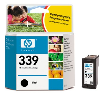 HP No. 339 Black Inkjet Print Cartridge (21ml) За HP Photosmart 2610/2710 и HP Officejet 7310/7410Цвят : ЧеренC8767EE