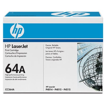 HP LaserJet CC364A Black Print Cartridge with Smart Printing Technology Съвместимост : HP LaserJet P4014, P4015n, P4515 seriesЦвят : Black CC364A