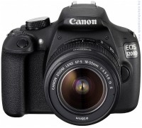 Огледално-рефлексен фотоапарат Canon EOS 1200D + EF-s 18-55 IS II + DSLR ENTRY Accessory Kit (SD8GB/BAG/LC)