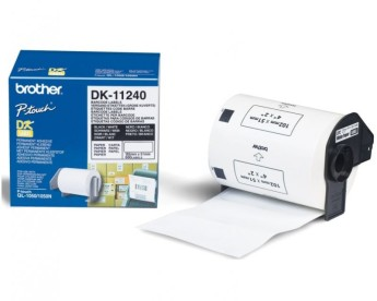 Brother DK-11240 Barcode Paper Labels, 51mmx102mm, 600 labels per roll, Black on White Brother QL-1050 & QL-1060