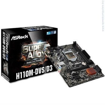 AsRock H110M-DVS D3 s.1151 дънна платка     ASRock Super Alloy