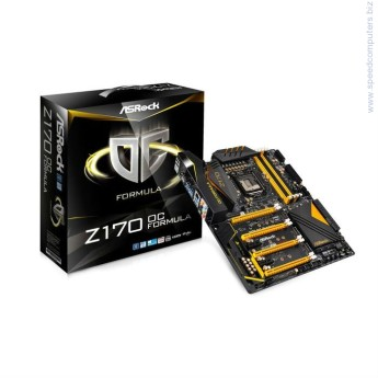 Дънна платка ASROCK Z170 OC FORMULA • ПроцесорSupports 6th Generation Intel® Core™ i7/i5/i3/Pentium®/Celeron® Processors (Socket 1151)Digi Power design18 Power Phase design