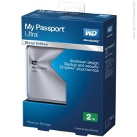 Твърд диск Western Digital 2TB USB 3.0 MyPassport Ultra сребрист