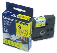 Brother TZ-621 Tape Black on Yellow, Laminated, 9mm Eco