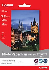 Canon Photo Paper Plus semi-glossy, SG-201 A4, 20 sheets per pack