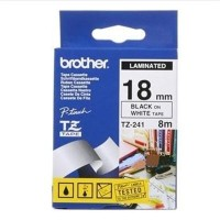 Brother TZ-E241 Tape Black on White, 18mm - Eco