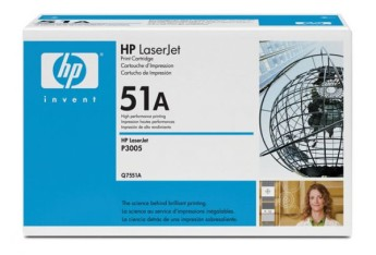 HP Black Print Cartridge for LJ P3005/M3035mfp/M3027mfp, up to 6,500 pages Съвместимост : HP LaserJet P3005, HP LaserJet M3027/M3035mfpЦвят : Черен Q7551A