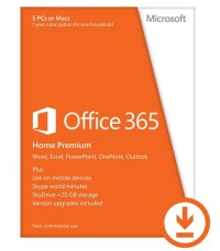 Office 365 Home English EuroZone Medialess 1 year license