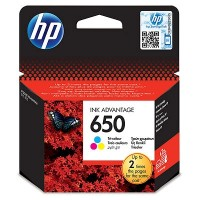 HP 650 Tri-color Ink Cartridge
