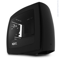 Кутия NZXT Manta Matte Black Window черен