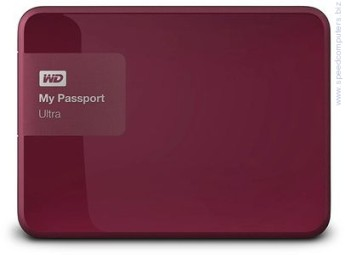 Външен твърд диск Western Digital MyPassport Ultra 1TB USB 3.0 Бордо Western Digital MyPassport Ultra 1TB USB 3.0