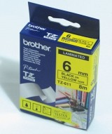 Brother TZ-611 Tape Black on Yellow