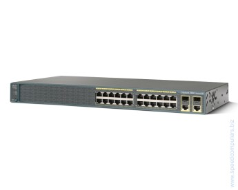 Switch Cisco Catalyst 2960 Plus 24 10/100 PoE + 2 T/SFP LAN Lite 