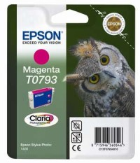 Epson T0793 Magenta Ink Cartridge - Retail Pack (untagged) for Stylus Photo 1400