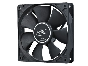 DeepCool XFan 120 120mm 1300prm вентилатор Fan Dimension: 120X120X25mmNet Weight: 180gBearing Type: Hydro BearingRated Voltage: 12VDCOperating Voltage: 10.8~13.2VDC