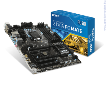 Дънна платка MSI Z170A PC MATE 1151 DDR4 ATX  Supports 6th Gen Intel® Core™ / Pentium® / Celeron® processors for LGA 1151 socket