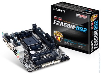 Дънна платка Gigabyte F2A58M-DS2 (rev. 3.0) FM2+ micro ATX Дънна платка Gigabyte F2A58M-DS2 (rev. 3.0)