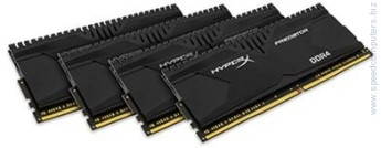 Памет Kingston HyperX Predator 16GB (4x4GB) DDR4 2400MHz CL12 Kingston HyperX Predator 16GB(4x4GB) DDR4 PC4-19200 2400MHz CL12 HX424C12PB2K4/16