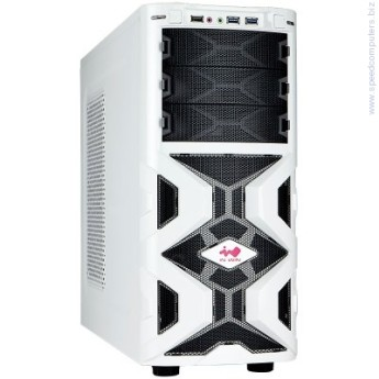 "Кутия In Win MANA136 Mid Tower ATX бял кутия In Win MANA136 Mid Tower ATX SECC Steel, 5.25""x3, 3.5""x6(Supports SATA HDD EZ-Swap Modulex2),USB 3.0x2,USB 2.0X1, HD/AC' 97 Audio, 12cm LED Front Fan x1, 12cm Rear Fan x1, Water-Cooling Hole Ready, White"