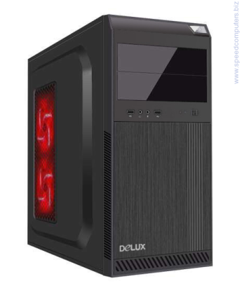Кутия DELUX DLC-DC610 ATX без захранване Кутия DELUX DLC-DC610 Midi Tower, ATX, USB2.0, without PSU, Black
