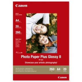 Canon Plus Glossy II PP-201, A4, 20 sheets Тегло: 260 g/m3Дебелина: 270 µm