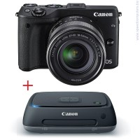 Цифров фотоапарат Canon EOS M3 Черен + EF-M 18-55mm + Canon Connect Station CS100
