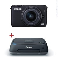 Цифров фотоапарат Canon EOS M10 Черен + EF-M 15-45mm IS STM + Canon Connect Station CS100