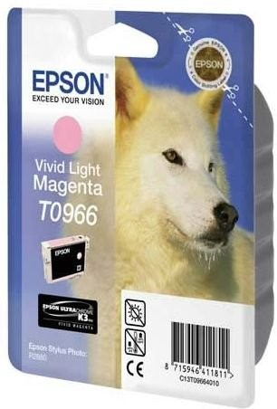 Epson T096 Vivid Light Magenta Cartridge - Retail Pack (untagged) for Epson Stylus Photo R2880 for Epson Stylus Photo R2880