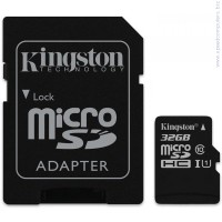 KINGSTON 32GB microSDHC Class 10 UHS-I G2 + SD адаптер карта памет