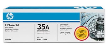 HP LaserJet CB435A Black Print Cartridge with Smart Printing Technology for LJ P1005/P1006, up to 1,500 pages Съвместимост : HP LaserJet P1005/P1006Цвят : Черен CB435A