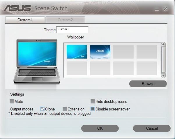 Asus K56CB scene switch