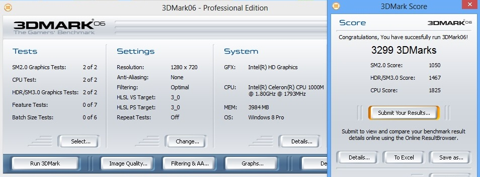 Asus X501A 3dmark06