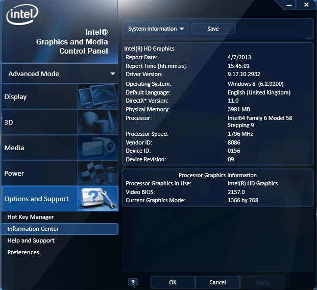 Asus X501A intel hd 2500