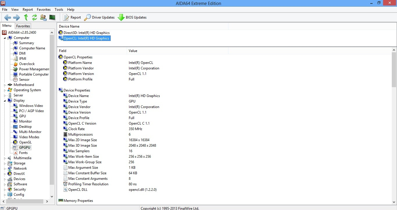 Asus X501A OpeCL 1.1