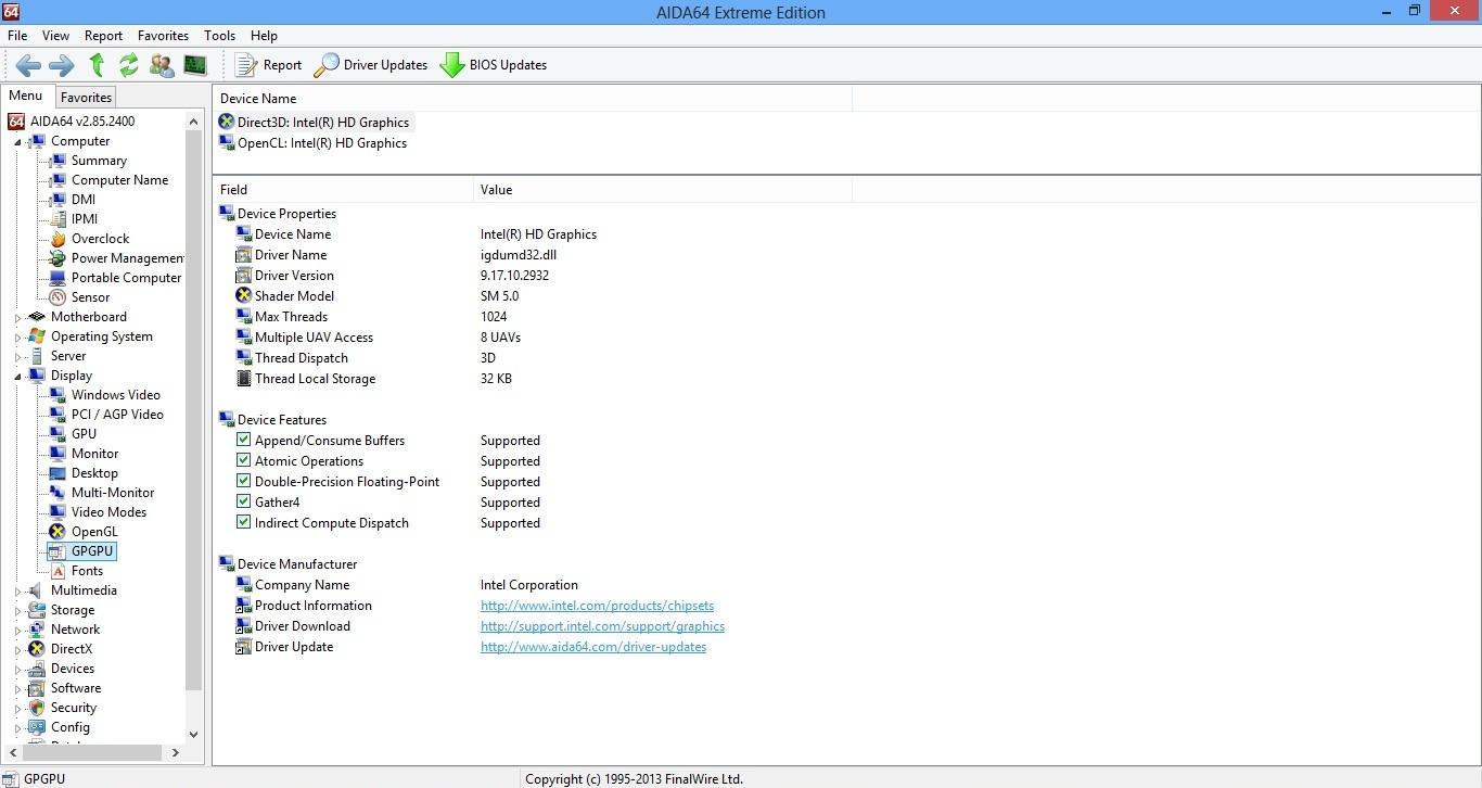 Asus X501A ShaderModel 5.0