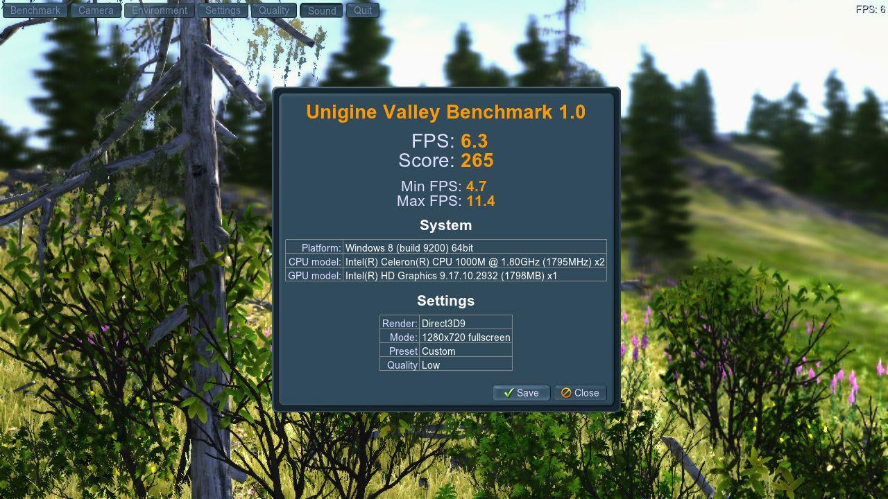 Asus X510A Unigine Valley  DX9