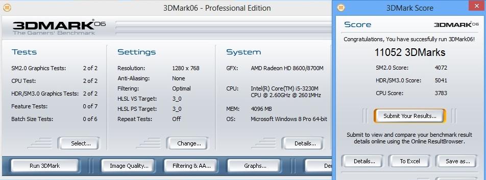HP ProBook 450 3dmark06
