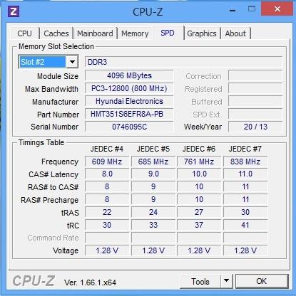 HP ProBook 450 cpu-z spd