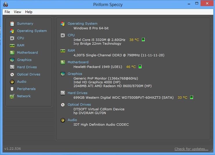 HP ProBook 450 speccy main