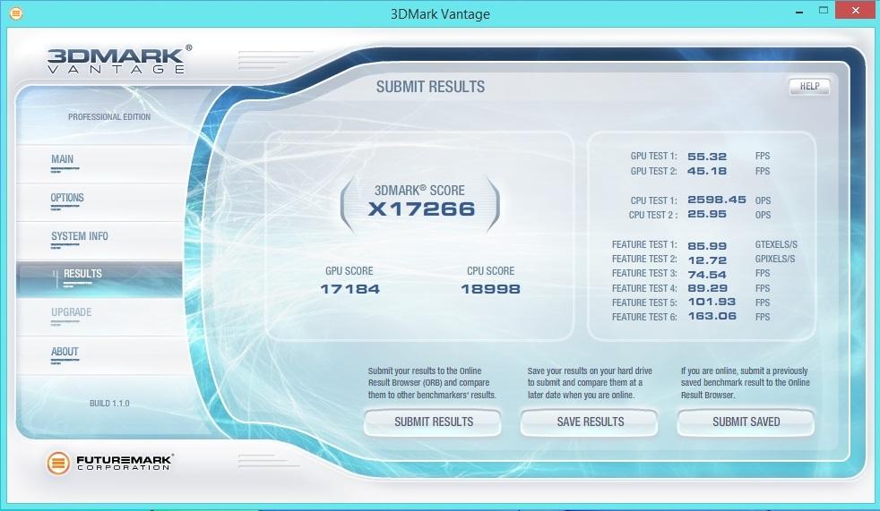 Speed Game Pro I GTX 760 3DMARK Vantage Extreme 1680x1050