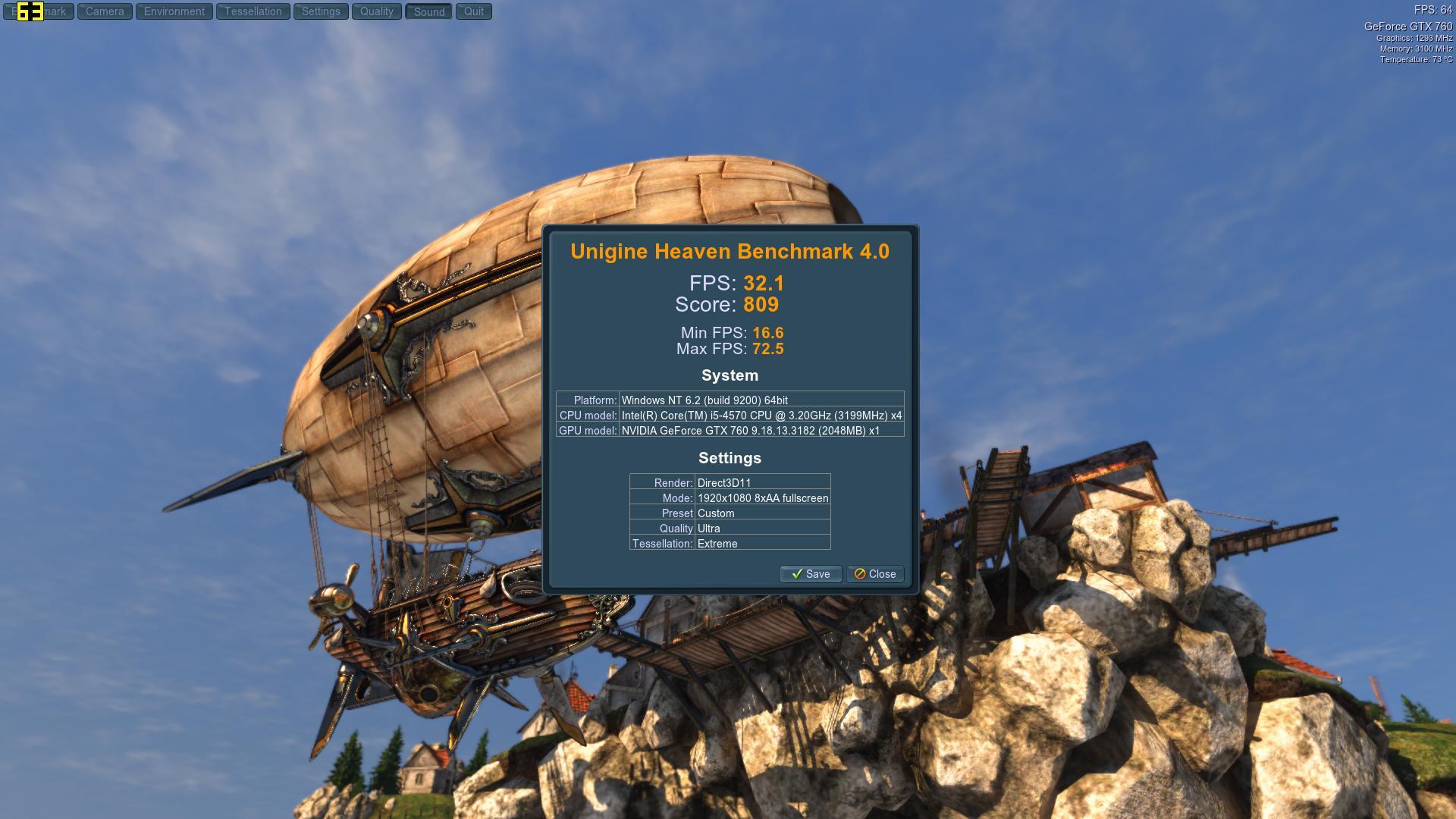 Speed Game Pro I GTX 760 Heaven UltraExtreme8AA
