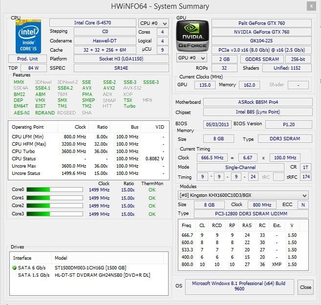Speed Game Pro I GTX 760 hwinfo64