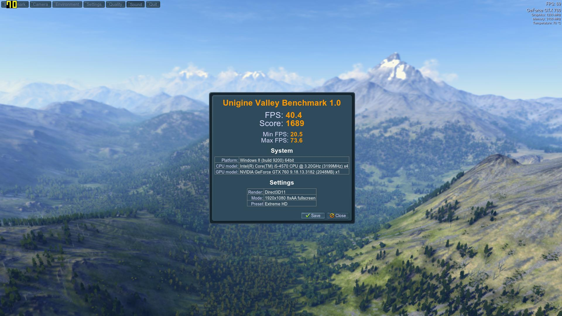 Speed Game Pro I GTX 760 Valley Extreme8AA
