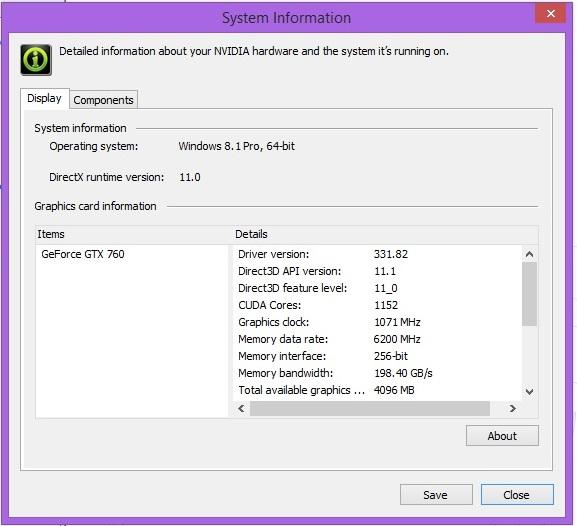 Speed Game Pro I GTX 760 vga info