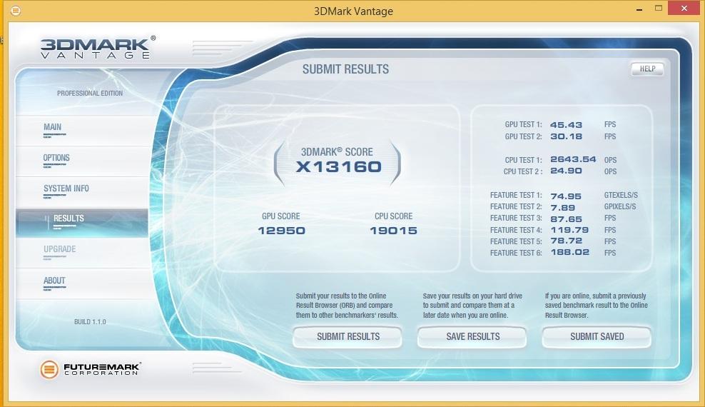 Speed Game Pro I HD7870 3DMARK Vantage Extreme 1680x1050