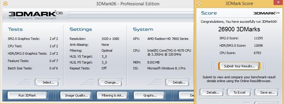 Speed Game Pro I HD7870 3DMARK06 1080p