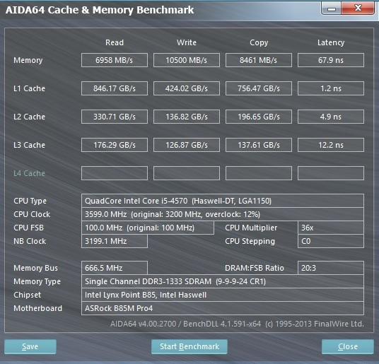 Speed Game Pro I HD7870 aida cache and memory