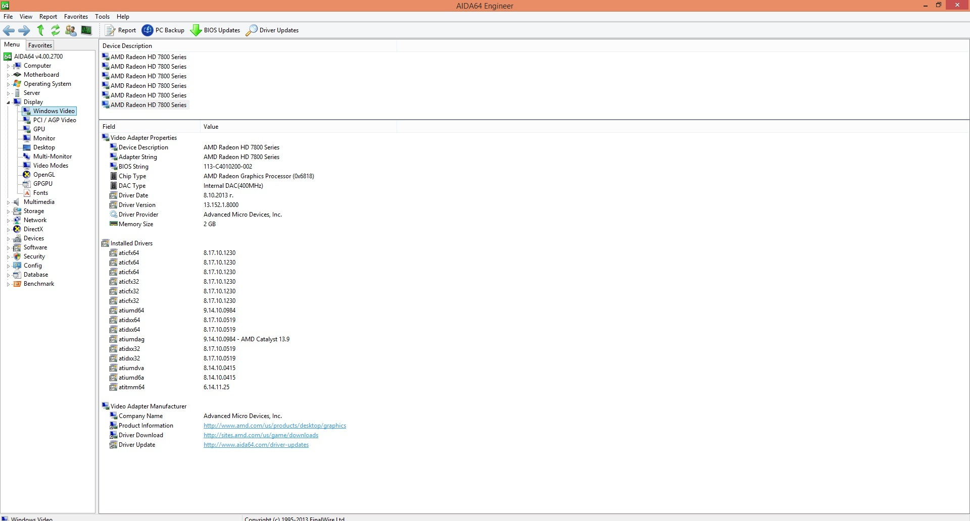 Speed Game Pro I HD7870 aida vga info